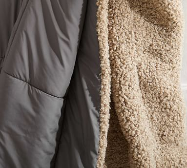 """Sport Luxe Reversible Throw, 60 x 80"""", Neutral/Sand"""