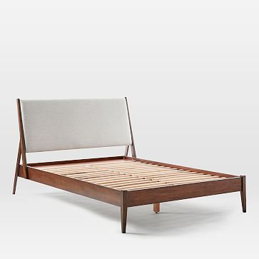 Wright Upholstered Bed, King, Stone