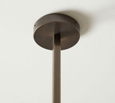 Bradbury Milk Glass Chandelier, Bronze