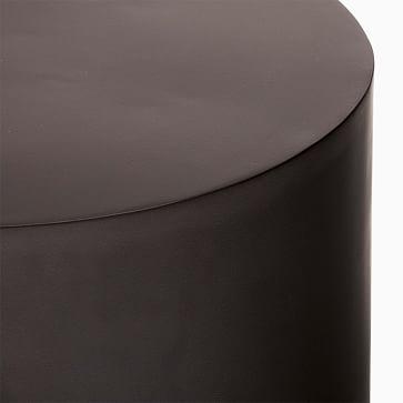 Tucker Round Drum Side Table Antique Bronze