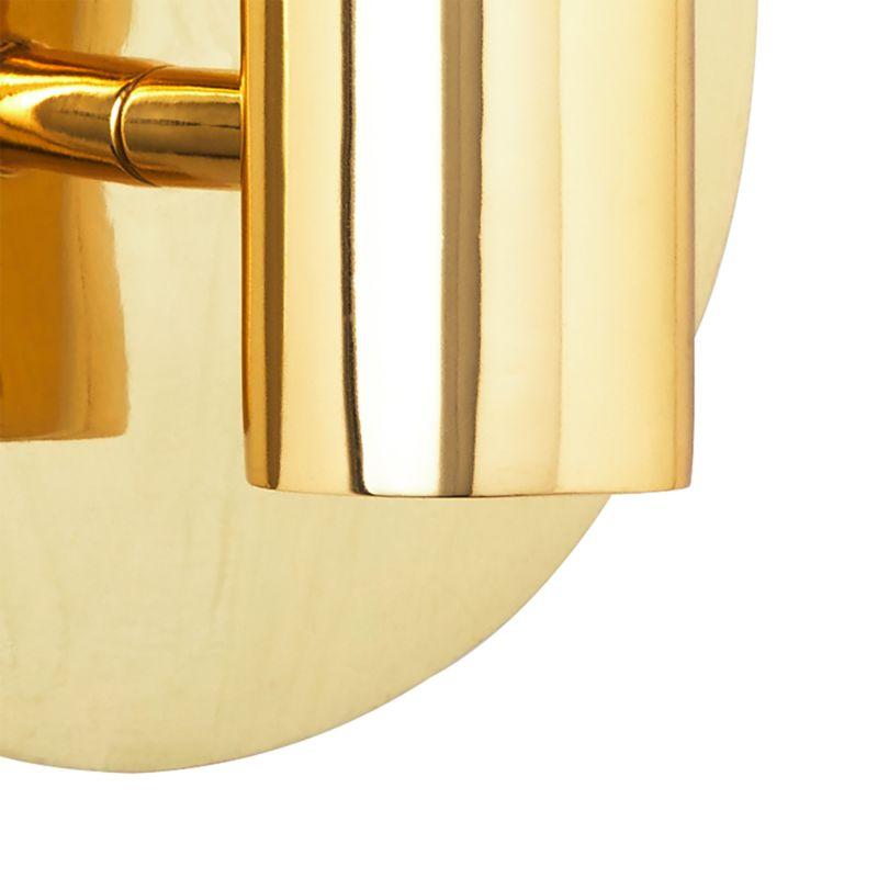 Plate Polished Brass Sconce