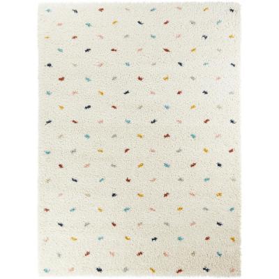 BALTA Enrica Dots Shag White 5 ft. x 7 ft. Area Rug