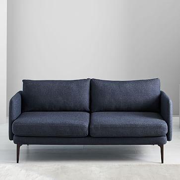 Auburn Sofa, Poly, Twill, Silver, Dark Mineral