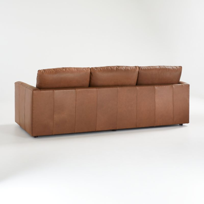 "Gather 98"" Petite Leather Sofa"