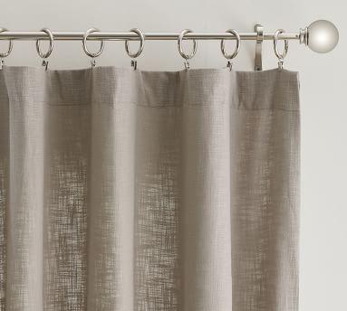 "Seaton Textured Cotton Rod Pocket Blackout Curtain, 50 x 96"", Dark Flax"