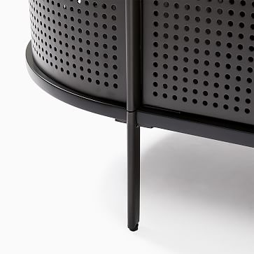 """Perforated Media Collection, Antique Bronze 68"""" Console"""