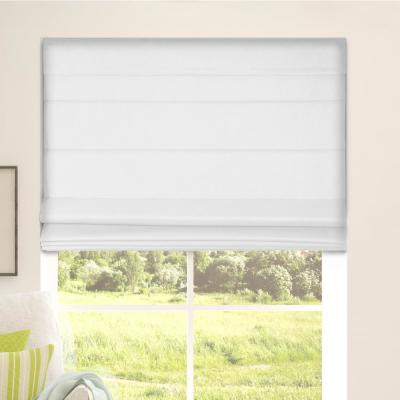 Arlo Blinds Cut-to-Size White Cordless Bottom Up Blackout Fabric Roman Shade 28.5 in. W x 60 in. L (Actual Size)