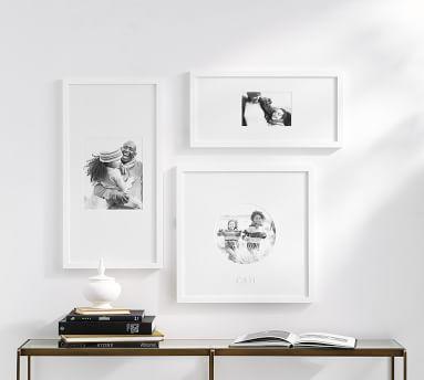 "Wood Gallery Custom Mat Frame, Black - XL Circle 20"" (25"" x 25"" Without Mat)"