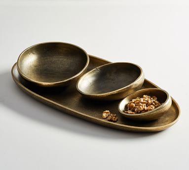Austin Tumbled Metal Snack Bowl - Small