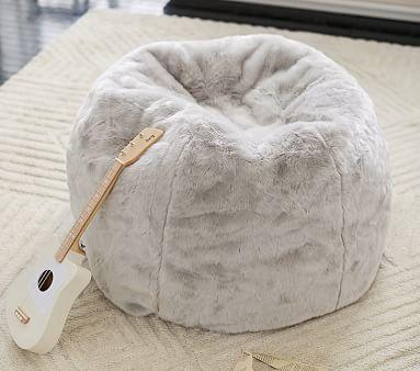 Gray Faux Fur Anywhere Beanbag(TM)