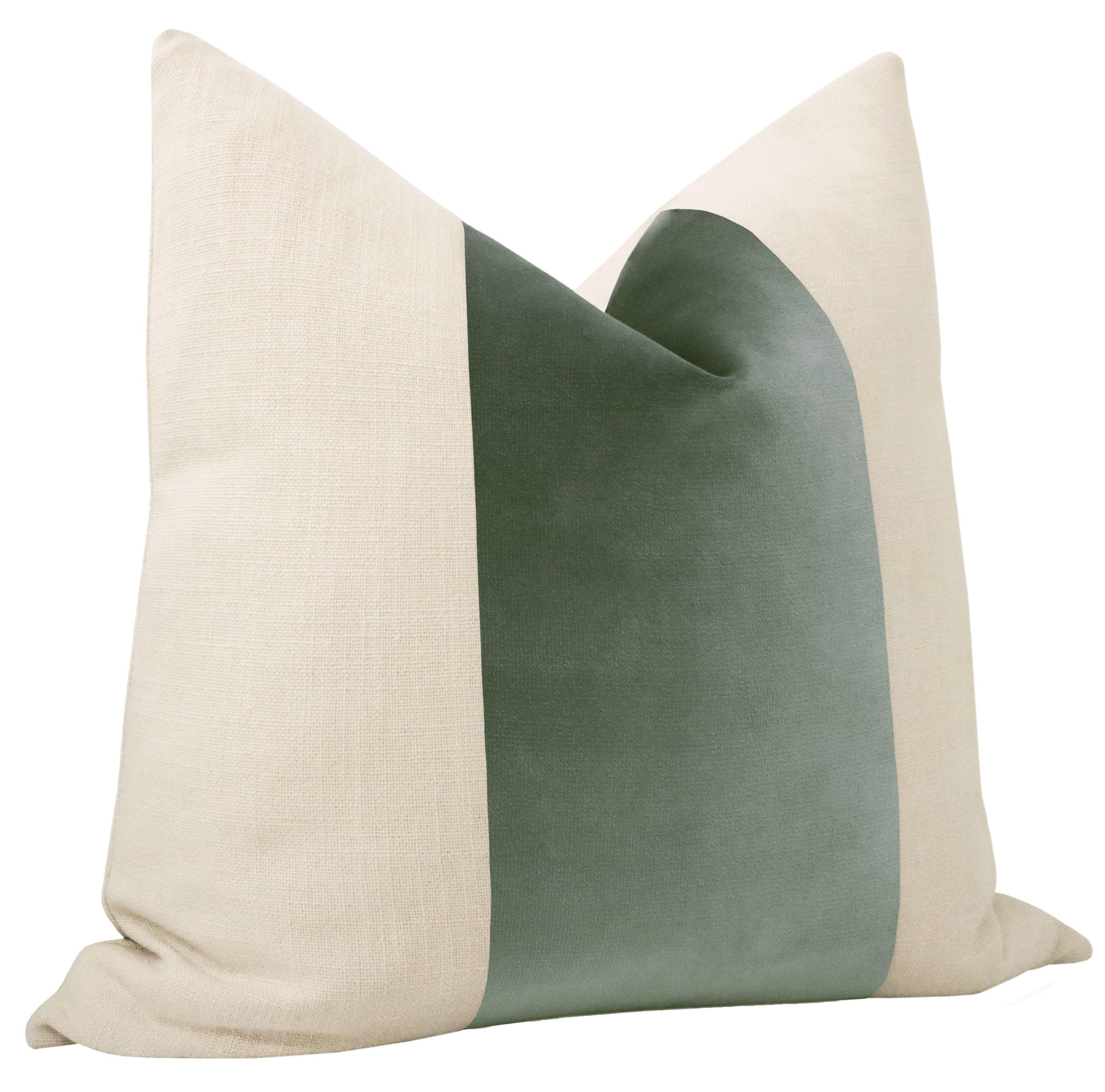 """PANEL :: Sonoma Velvet // Eucalyptus - 20"""" X 20"""""""
