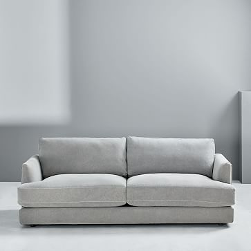 Haven Sofa, Trillium, Performance Yarn Dyed Linen Weave, French Blue