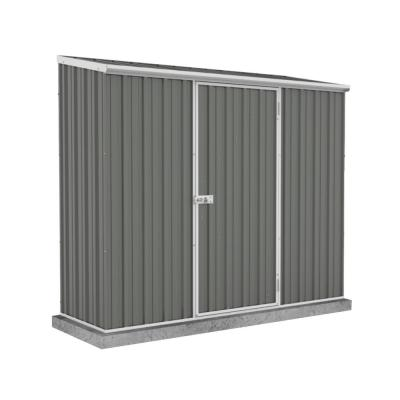 ABSCO Space Saver 7 ft. x 3 ft. Woodland Gray Metal Shed, Grays