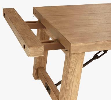 """Benchwright Extending Dining Table, Tudor White, 86"""" - 122"""" L"""