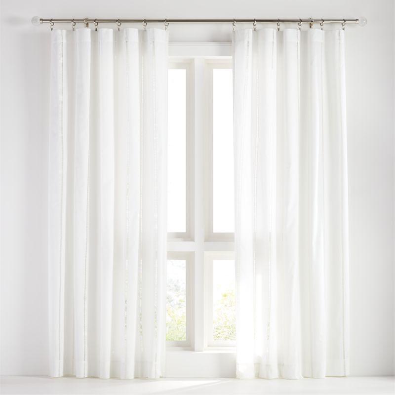 "Eyelet White Curtain Panel 50"" x 96"""