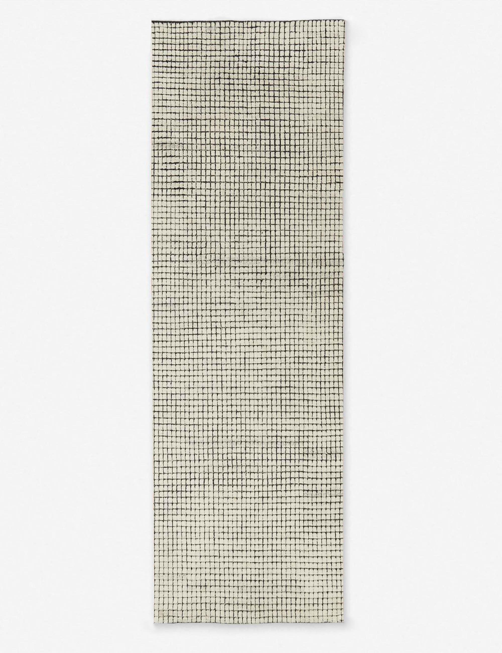Uma Rug, Black and Natural 8' x 10'