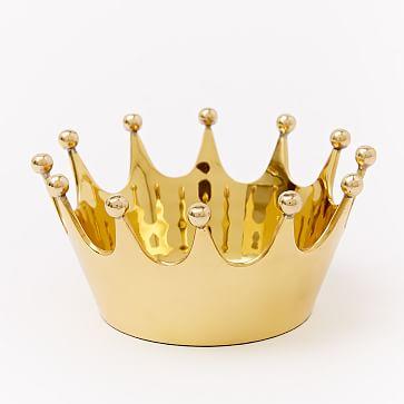 Crown Catchall, Antique Brass