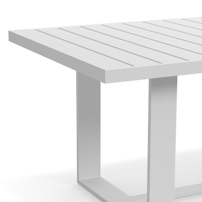 "Santa Barbara Outdoor Rectangular Dining Table, 84"", Slate Grey"