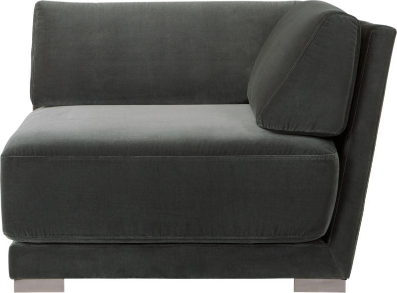 Familia Dark Grey Velvet Corner Chair