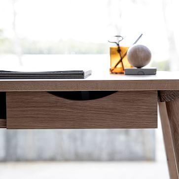"Elora 55"" Writing Desk, Oak"