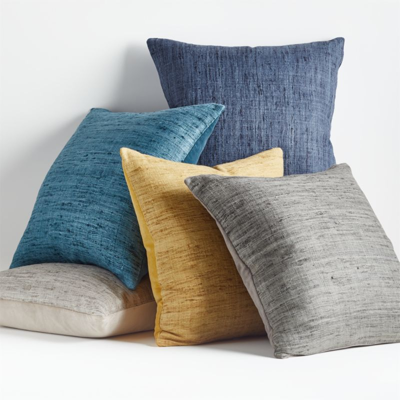 "Trevino 20"" Aqua Pillow with Down-Alternative Insert"