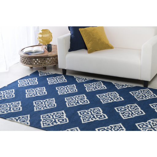 Solid Navy Pillow 20x20 with Down Insert