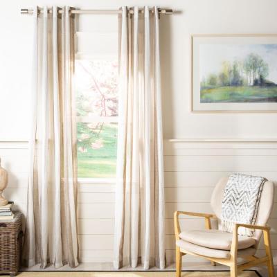 Safavieh Tallie 52 in. W x 96 in. L Sheer Window Panel in Beige
