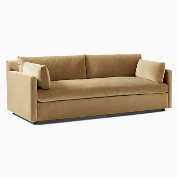 """Marin 86"""" Sofa, Down, Performance Basketweave, Alabaster, Concealed Supports"""