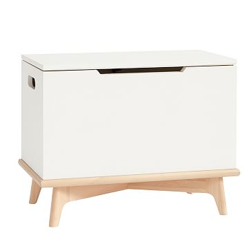 Sloan Toy Chest Storage, White + Natural, WE Kids