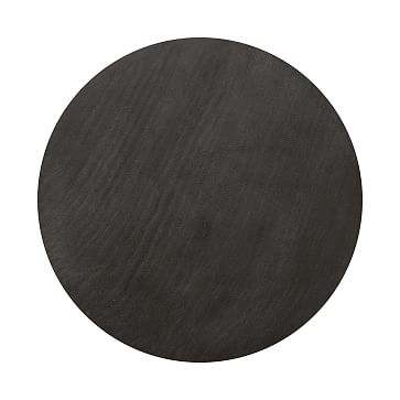 "Lavastone & Iron Nesting Coffee Tables, Black, 36"""