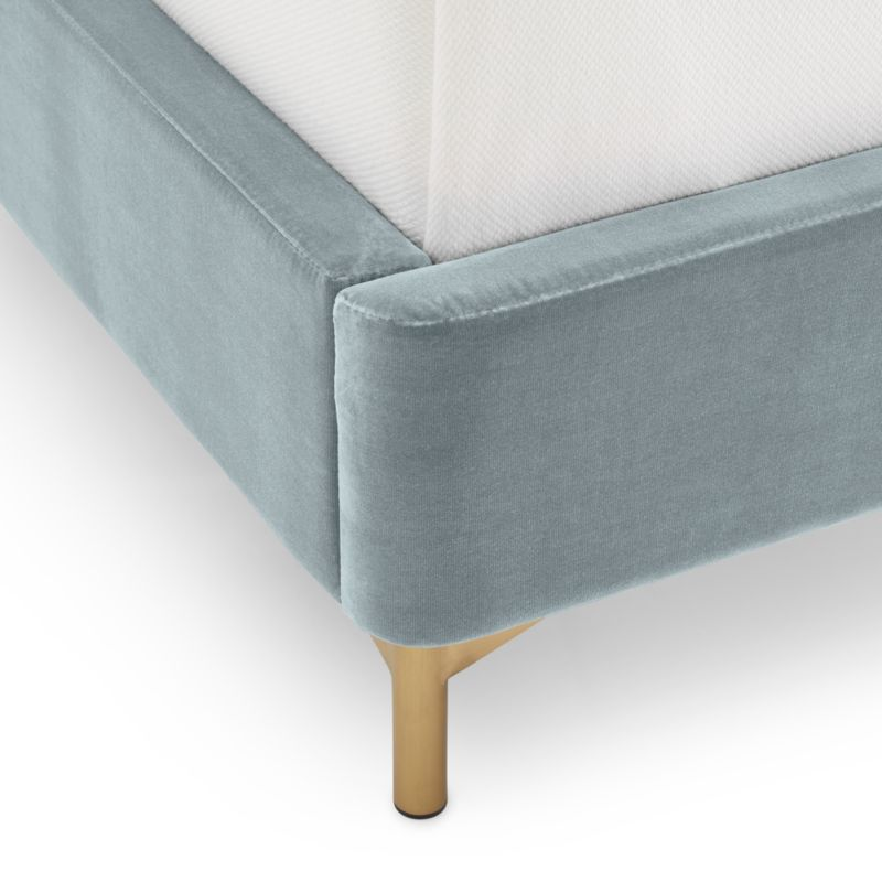 Ava Stone Blue Queen Bed