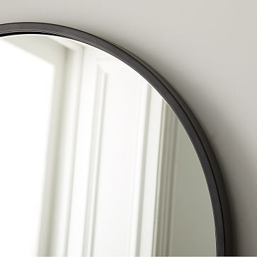 Metal Frame Arched Floor Mirror Antique Bronze