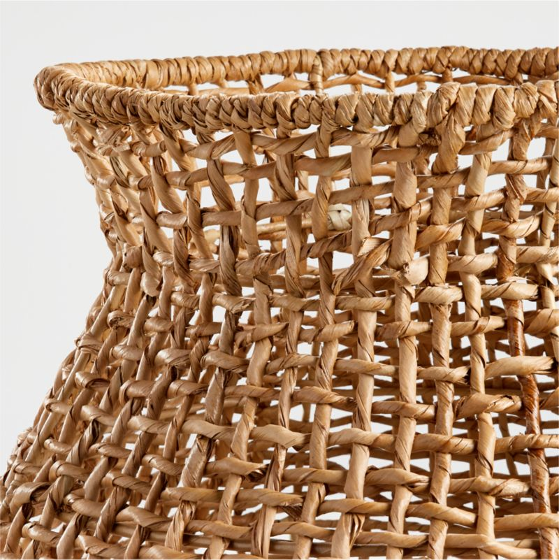 Small Natural Wonky Weave Basket