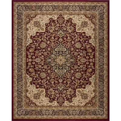 Home Decorators Collection Silk Road Red 8 ft. x 10 ft. Medallion Area Rug