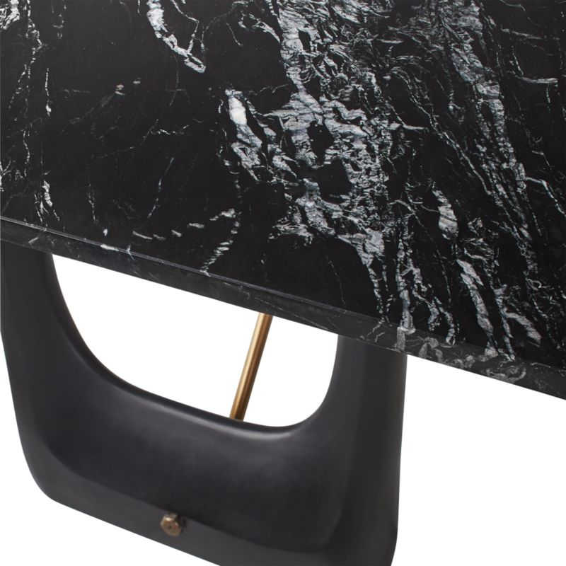 Rocco Rectangular Marble Dining Table Cb2