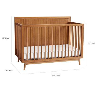 west elm x pbk Mid Century 4-in-1 Convertible Crib, Acorn, Flat Rate