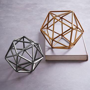 Symmetry Objects, Large Octahedron, Gold