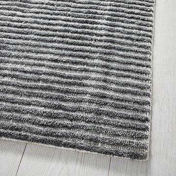 Terra Stripes Rug, 9'x12, Natural Flax