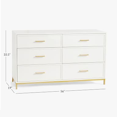 Blaire Wide Dresser, Lacquered Simply White