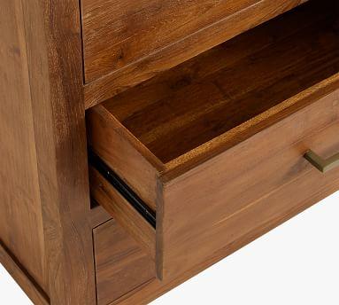 Menlo Reclaimed Teak 5-Drawer Tall Dresser, Camden