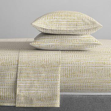 Organic Percale Bomu Sheet Set, King, Midnight
