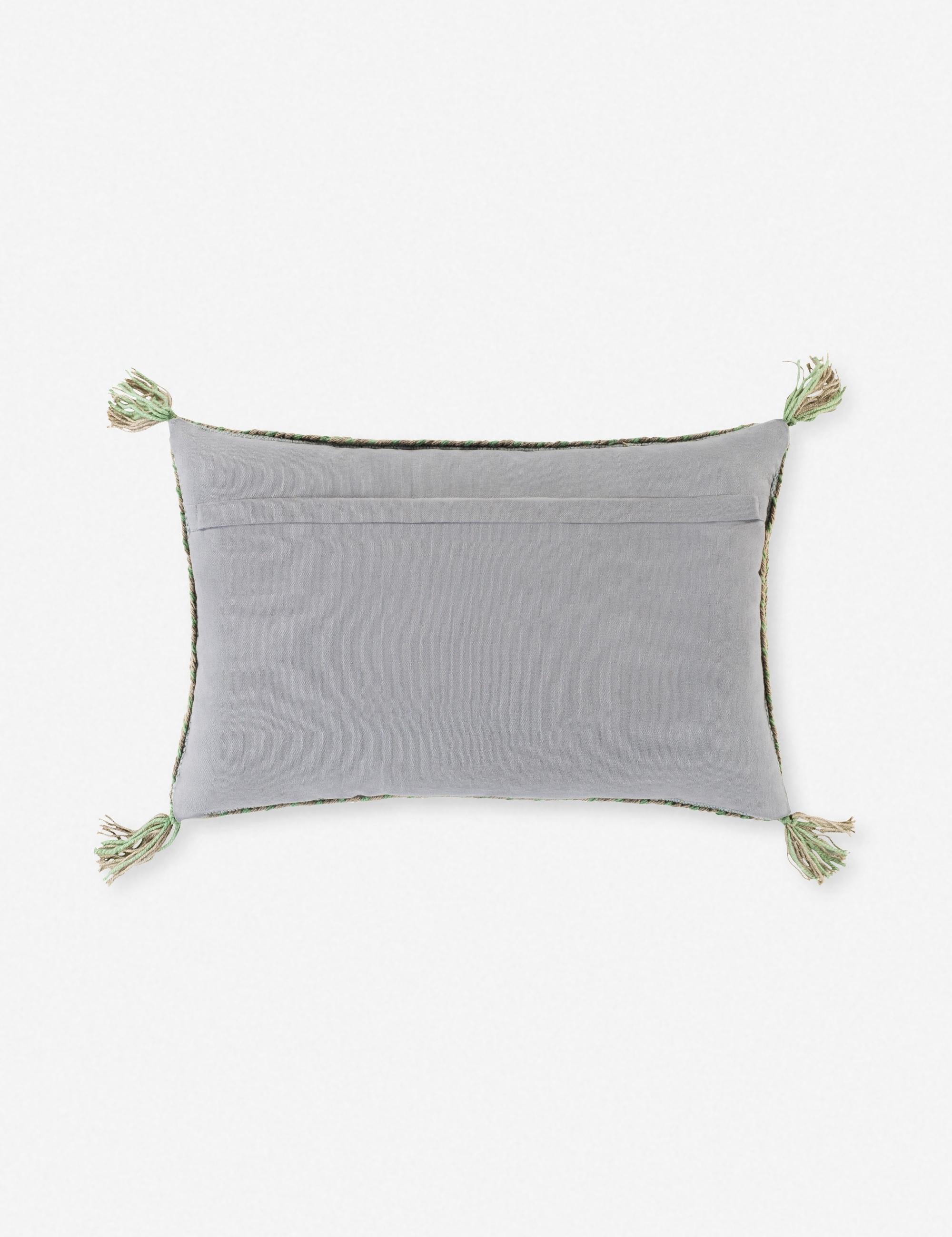 """Sylvia Lumbar Pillow, Blue 14"""" x 22"""""""