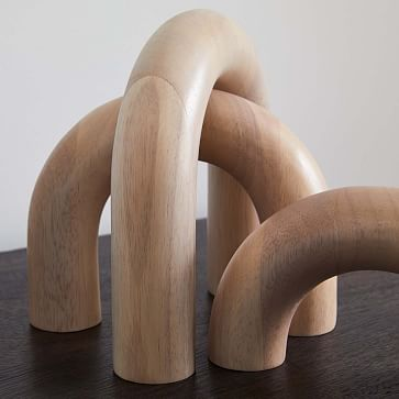 Wood Arch Object, Natural, Set of 3