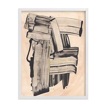 "Zickafoose, Black Wood Frame, 40""x54"""