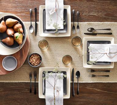 Mason 16-Piece Square Dinnerware Set - Ivory