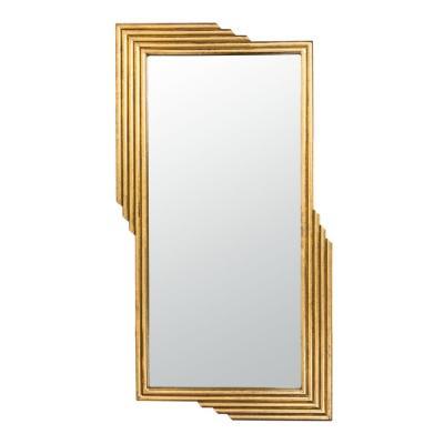 Safavieh Trenla 26.5 in. X 48 in. Gold Foil Framed Mirror