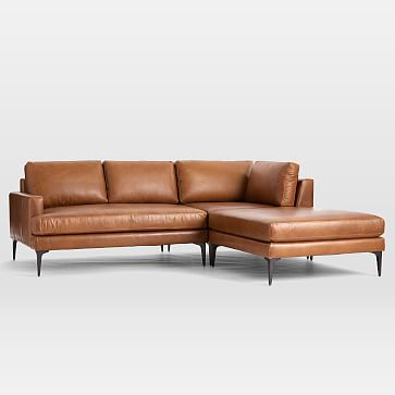 Andes Sectional Set 05: Right Arm 2 Seater Sofa, Corner, Ottoman, Poly, Vegan Leather, Cinder, Blackened Brass