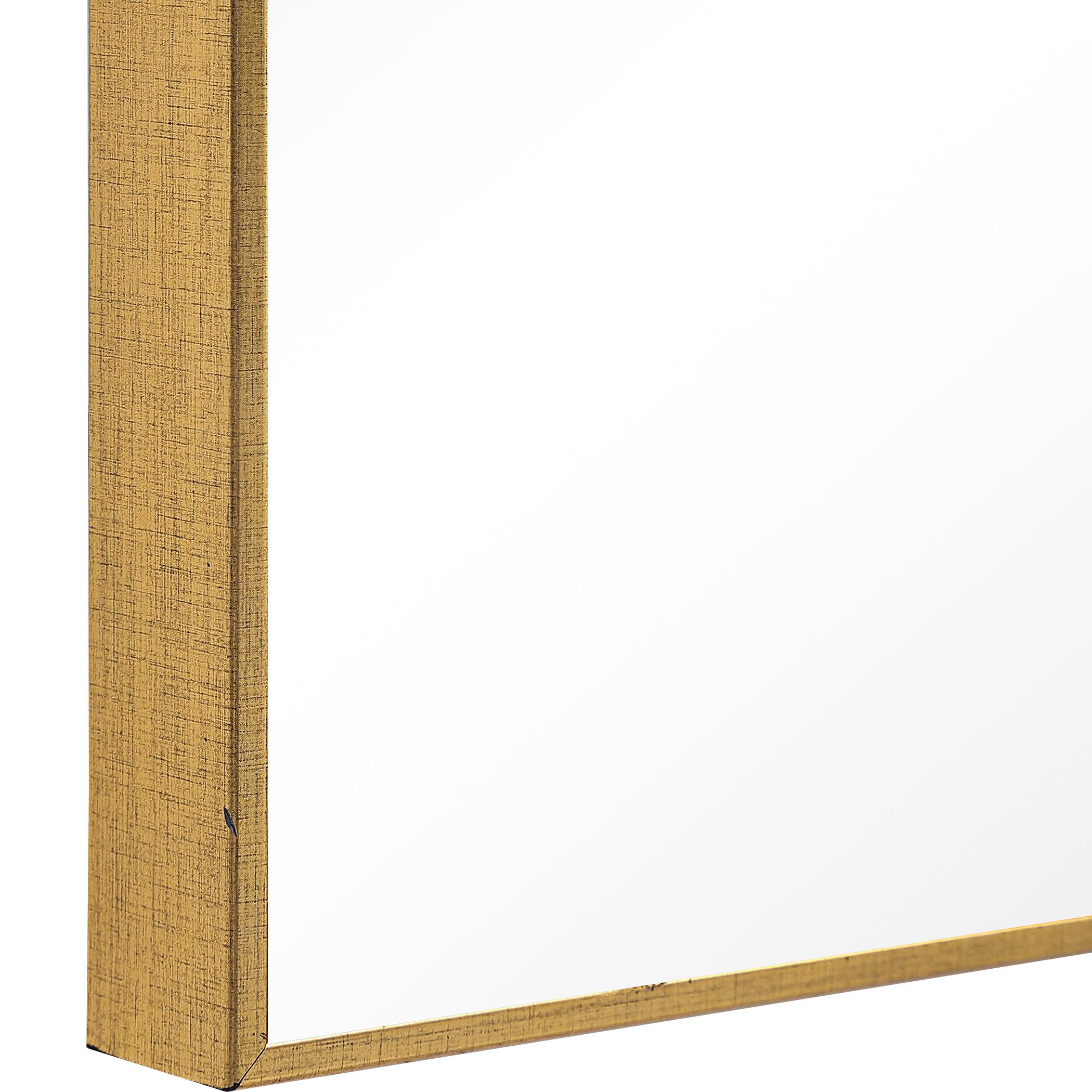 Thin Gold Frame Mirror