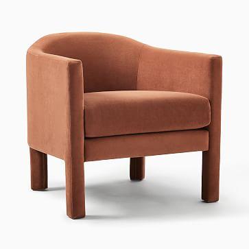 Isabella Fully Upholstered Chair, Poly, Astor Velvet, Dijon, N/A