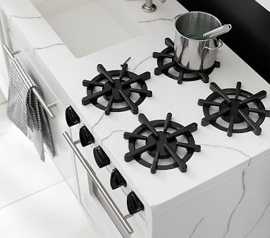 Marble Play Kitchen Sink & Stove, Simply White, In-Home Delivery